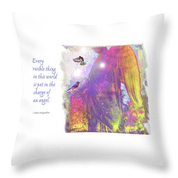 Throw Pillow featuring the photograph Angel Vision by Marie Hicks