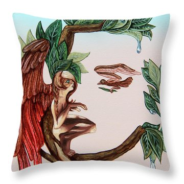 Angel, Watching The Reincarnation Of Marilyn Monro. Op.2769 Throw Pillow