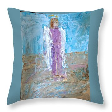 Angel With Confidence Throw Pillow