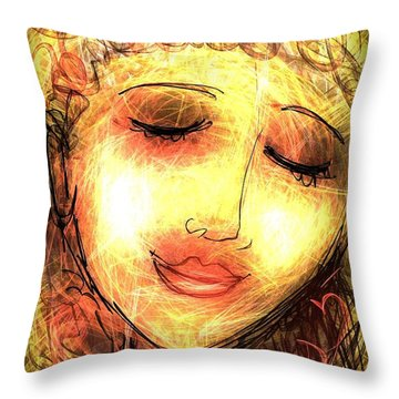 Angela Throw Pillow by Elaine Lanoue