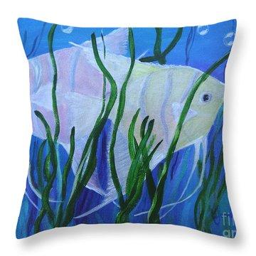 Angelfish Duo Throw Pillow