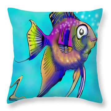 Angelfish Throw Pillow by Kevin Middleton