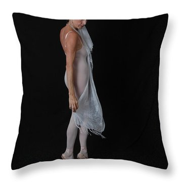 Throw Pillow featuring the photograph Angelic Ballerina by Nancy Taylor