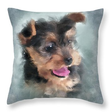 Angelic Throw Pillow by Betty LaRue