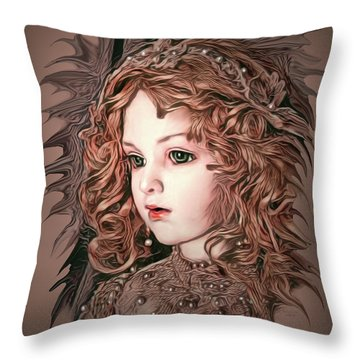 Angelic Doll Throw Pillow