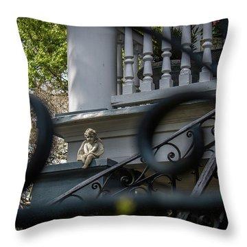 Angelic Ironwork Throw Pillow