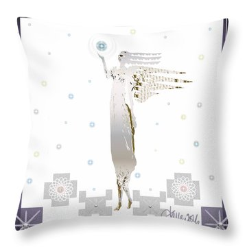 Angelic Messenger Throw Pillow