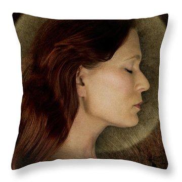 Angelic Portrait Throw Pillow