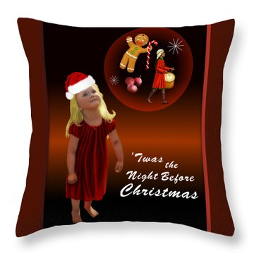 Angelica's Dream Throw Pillow by Sena Wilson