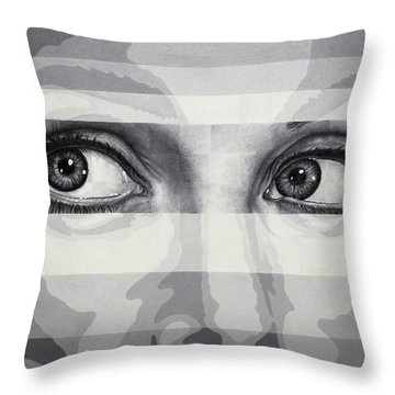 Angelina's Eyes Throw Pillow