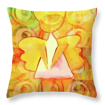 Angelino Yellow Throw Pillow