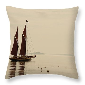 Angelique Leaving Camden Throw Pillow
