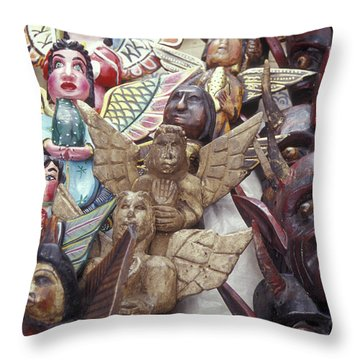 Angels And Devils Taxco Mexico Throw Pillow