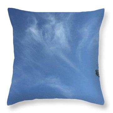 Angels Appear Over The Old Farm Throw Pillow
