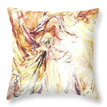 Angels Emerging Throw Pillow