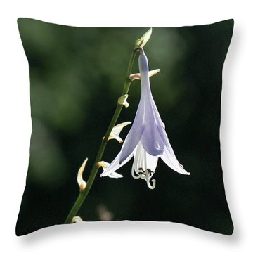 Angel's Fishing Rod Throw Pillow