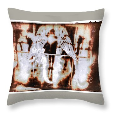 Angels In The Mirror Throw Pillow