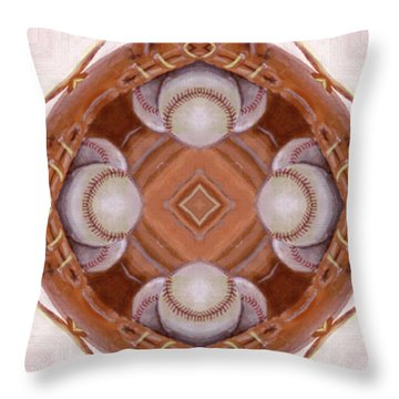 Angels In The Outfield Throw Pillow