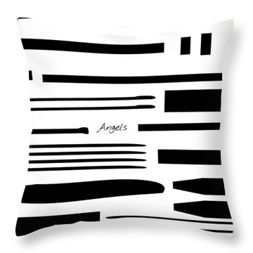 Throw Pillow featuring the mixed media Angels by Jessica Eli