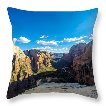 Angels Landing Throw Pillow