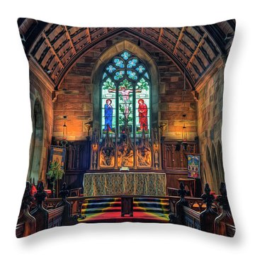 Angels Light Throw Pillow