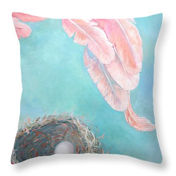 Angel's Nest Throw Pillow by Ana Maria Edulescu