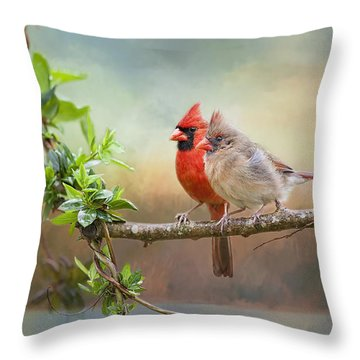 Angels Of The Morning And Evening Throw Pillow by Bonnie Barry