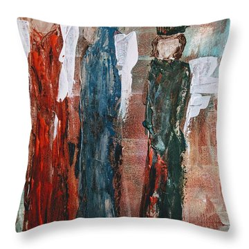 Angels Of The Night Throw Pillow