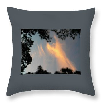 Angels Over The Front Yard Throw Pillow