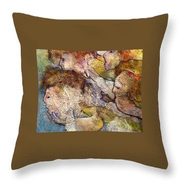 Angels Overhead Throw Pillow by Eleatta Diver