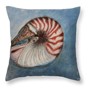 Angel's Seashell  Throw Pillow