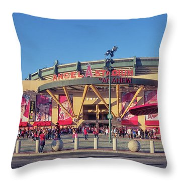 Angels Stadium Throw Pillow