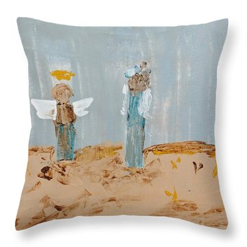 Angels Taking Care Of E Throw Pillow