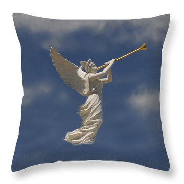 Angels Trumpet Throw Pillow by David Lee Thompson