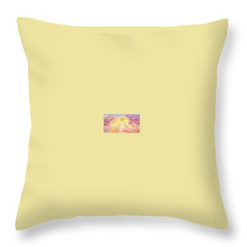 Angels Unaware Throw Pillow