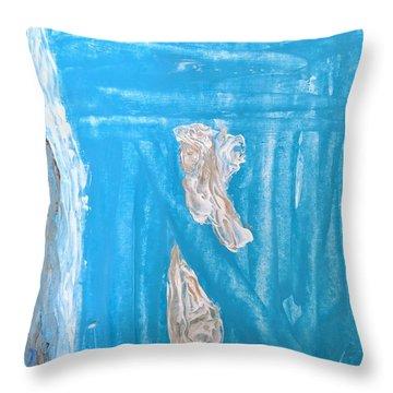 Angels Under A Bridge Throw Pillow