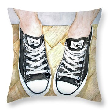 Angel's Verses Throw Pillow