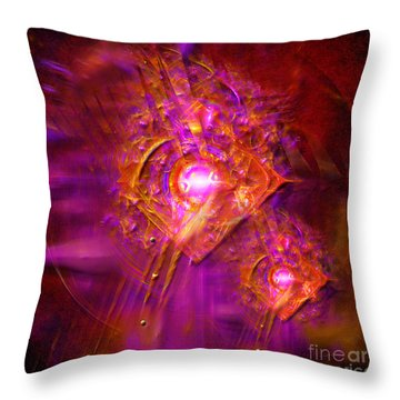 Angels Vibration Frequency  Throw Pillow