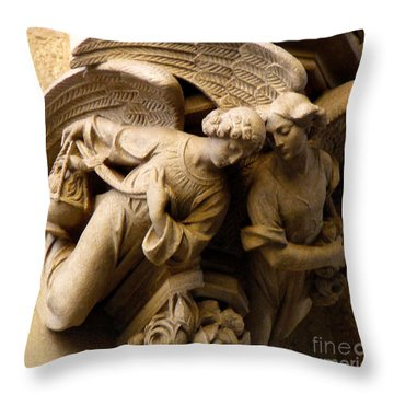 Angels Watch Over Me Throw Pillow