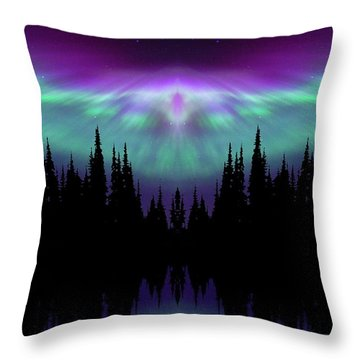 Angels Watching Over You Throw Pillow