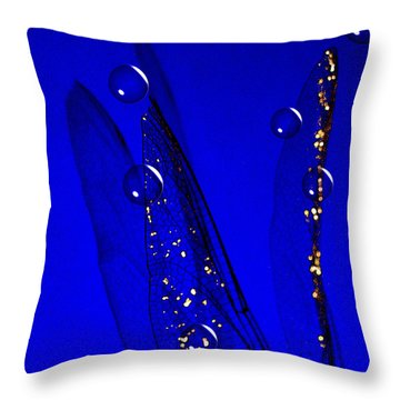 Angels Wings Blue Throw Pillow
