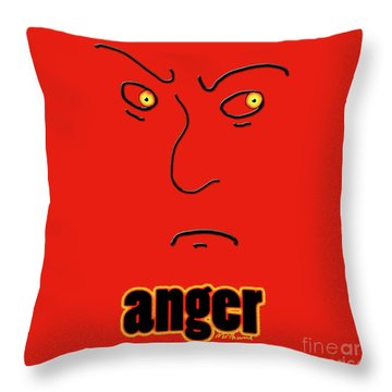 Anger Throw Pillow by Methune Hively