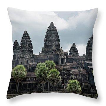Angkor Wat Focus  Throw Pillow