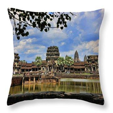 Angkor Wat Panorama  Throw Pillow