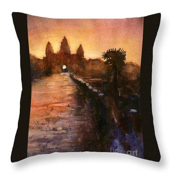 Angkor Wat Sunrise 2 Throw Pillow by Ryan Fox