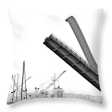 Throw Pillow featuring the photograph Angle Of Approach by Stephen Mitchell