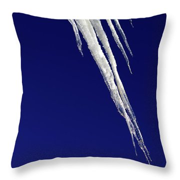 Throw Pillow featuring the photograph Angled Ice by Shane Bechler
