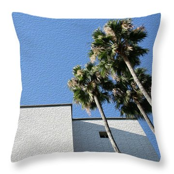 Angles And 3 Palm Tress Throw Pillow
