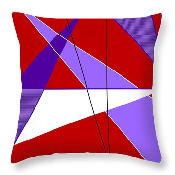 Angles And Triangles Throw Pillow