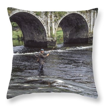 Angling Under The Arches Throw Pillow